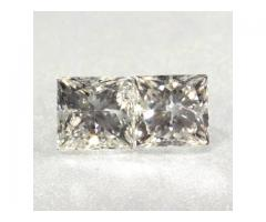 Yellow Color Princess Cut Natural Diamond