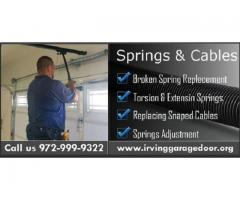 Professional Garage Door Spring Replacement in Irving, TX | $26.95
