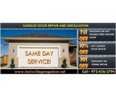 Expert Garage Door Installation only $26.95 - Lewisville, Dallas