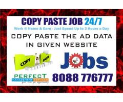 Part time copy paste job Earn Daily Rs, 300/-