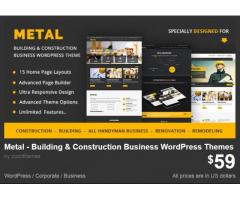 Metal - Building & Construction Business WordPress Themes