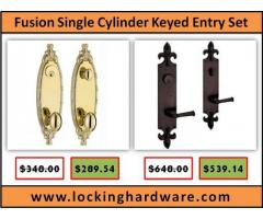 Fusion Hardware Single Cylinder Keyed Entry Set on Sale