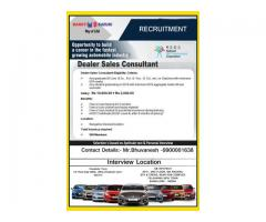 Automobile Sales and Marketing jobs with good salary and training, for immediate placement
