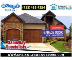 Starting only $25.95| Roll up New Garage Door Installation in Spring, TX