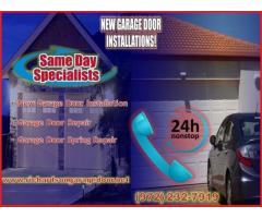 The Most New Garage Door Installation company in Richardson, TX | Start $25.95