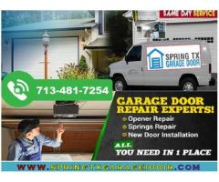 Starting Only $25.95 Commercial Garage Door Repair Service in Spring, TX