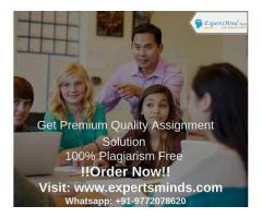 Looking for Certified and Authentic Assignment Help Experts to finish your assignment?