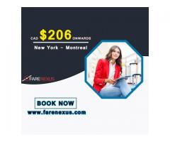 Return Flight Tickets | New York- Montreal