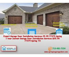A+ Rated Service | Garage Door Installation in Spring, 77379 TX | $25.95