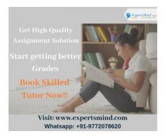 Get Best and Affordable Assignment Help Services At Expertsmind!