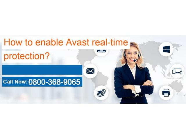 How to enable Avast real-time protection?