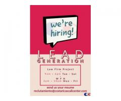 CALL CENTER LEAD GENERATION LAW FIRM JOB COSTA RICA.