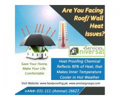 Heat Proofing Services, Heat Reflective Chemical Pakistan
