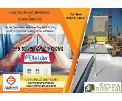 BEST Waterproofing services for roof, walls, washroom and basement in Pakistan