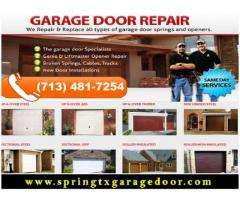 #1 Garage Door Repair Company in (spring) TX, 77379 - $25.95