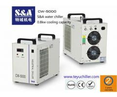 S&A chiller for water cooled electro spindles of small milling machines