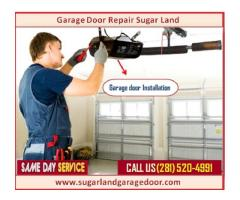 Top Spring and Installation Garage Door Service $25.95 |Sugar Land, 77498 TX