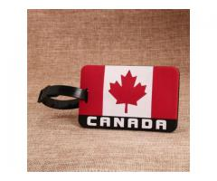 Custom PVC patches | Canada Flag PVC Luggage Tag | GS-JJ.com ™, Cheap