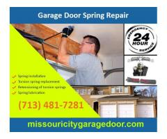Garage Door Spring Repair and Replacement | Missouri City Houston, 77459 TX